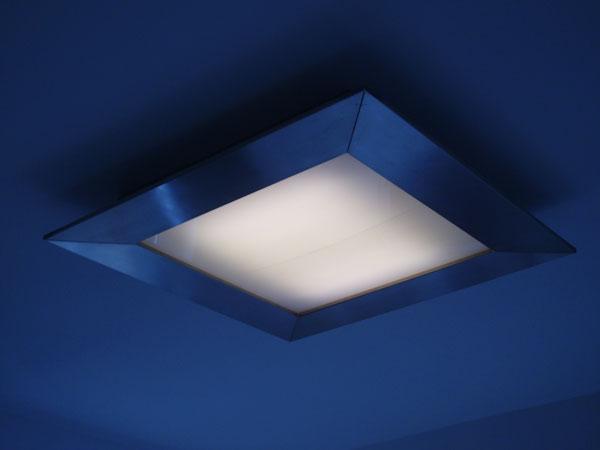 Plafoniere Inox Soffitto : Superquadra lampada da soffitto u2013 paolo di pasquale