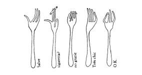 Le forchette parlanti di Bruno Munari